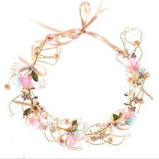 Bridal Flower Crown Headband Wedding Prom Beach Floral Garland Wreath KY