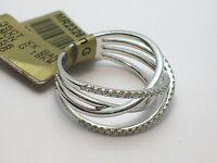 SIMON G 18K MR2326 WHITE GOLD XX RING 0.35 CTW DIAMONDS SIZE 6.5 - RETAIL $3,000
