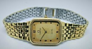 Omega DeVille Quartz Ladies Vintage Classic 20 Micron Gold Plated Watch DHL UPS