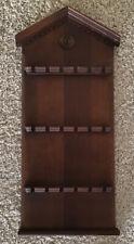 Vintage Wood 18 Slot Spoon Souvenir Display Rack Holder House Shaped