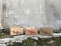 Trio of Vintage Confectionary Packaging Boxes - Great Display