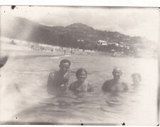 1930s Handsome muscle nude men women on beach gay interest Russian Soviet photo
