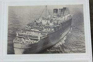 CUNARD WHITE STAR LINE RMS QUEEN MARY ORIGINAL POSTCARD WAR SERVICE WW2 ISSUED