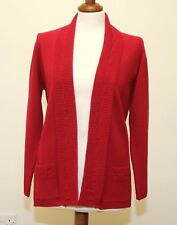 Red Cardigan - Acrylic fabric -  pockets - no buttons Size S/M