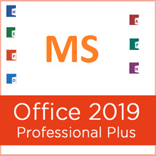 MS Office Professional Plus 2019 32/64 Bit, Genuine License & DVD