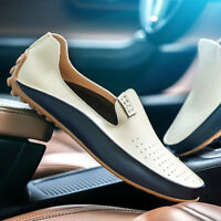 Fashion Men Flat Driving Moccasin Loafer Casual Comfy Leather Slip-on Soft Shoes
