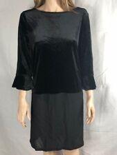 Women's NWT $79 Tommy Hilfiger Black Velvet Contrast Hem Tunic Top