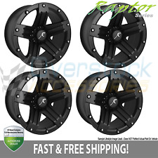 Raptor Series 311 Wheels Set 4 Matte Black 20x9 Rims for 2006-2010 Hummer H3