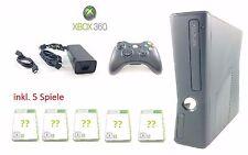 Microsoft XBOX 360 Konsole SLIM BLACK ★ Kinect Ready 1XController + 5 SPIELE ★#2