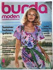 Vintage BURDA MODEN Magazine Sewing Patterns Summer Dresses Fashion April 1972