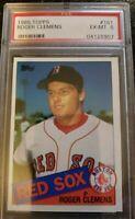 1985 Topps Roger Clemens Boston Red Sox #181 Baseball Card