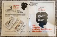 Radio Shack Eliza Program Cassette and Instruction Manual 1st Edition 1979