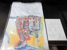 Jerry Garcia T-Shirt with Five Postcard Set in 1993 Grateful Dead