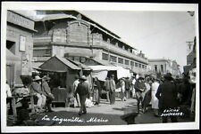MEXICO~1920's LA LAGUNILLA ~ Street Market ~ Cantina~Edicion Dominguez RPPC