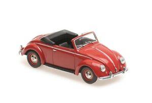 VW Hebmüller Cabrio rot Bj 1950 1:43 Minichamps / Maxichamps 940052131 NEU & OVP