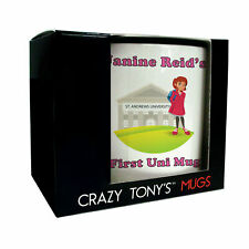 Personalised University Gifts For Girls, Personalised Girls First University Mug