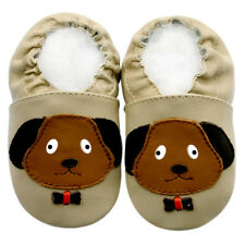 Prewalk Soft Sole Leather Baby Shoes Toddler Kids Boy Infant PuppyBeige 6-12M