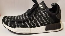61e711046 ADIDAS NMDR1 NOMAD BLACKOUT WHITEOUT LTD EDITION UNISEX TRAINERS S76519 Sz  us-5.