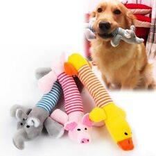 Pet Dog Puppy Chew Toy Cat Squeaker Squeaky Soft Plush Play Sound Teeth Toys