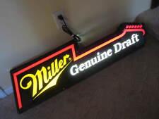 Miller Genuine Draft Beer Guitar Shaped Sign Light 1990's Bar Man Cave