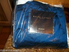 Rare Ralph Lauren Cobalt Blue Ashby Silk Queen Bed skirt New