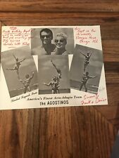 The Agostinos America's Finest Acro-Adagio Team Autographed Promotional Flyer