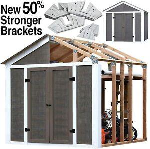 DIY EZ Shed Style Instant Framing Kit backyard tool shed easy build 70187 Peak