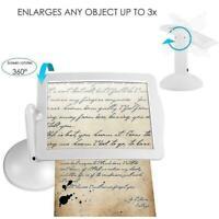 Brighter LED Screen Magnifier Reading Viewer Hands-Free Glass Old men Magni K1J4