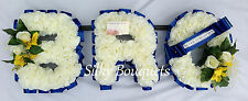 Artificial Silk Funeral Flower Bro 3 Letter Wreath Floral Tribute Personalised