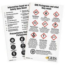 Ghs Safety Ghs1015 Wallet Card,Chemical/Hazmat Trng,Pk50