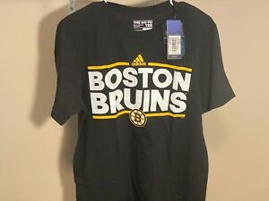 Boston Bruins Adidas The Go-To Tee Adult Size M