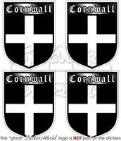 CORNWALL Schild ENGLAND GB 50mm Auto Aufkleber x4 Vinyl Stickers