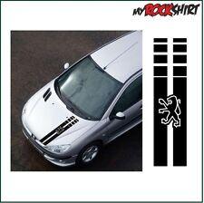 2x Rennstreifen Peugeot 120x 20 cm Viper Aufkleber Autoaufkleber