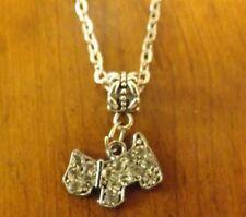 collier 46,5 cm avec pendentif chien strass