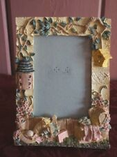 """WHIMSICAL GARDEN THEMED PICTURE FRAME FOR 4 X 6"""" PHOTO"""