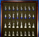 1983+Franklin+Mint+Pewter%2FBrass+Civil+War+Chess+Set+Fully+Documented