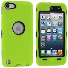 Dual Flex Hard Hybrid Gel Case for iPod Touch 5th Gen - Green/Black