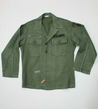 U.S Vietnam War Od 107 Green Sateen Jacket Date 1960 Size Medium-Short