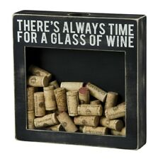 Wine Cork Display Holder Storage Primitives By Kathy Always Time For Glass Gift