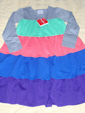 NWT Hanna Andersson Girls Fall Colorblock Love to Twirl Dress 120 Sz 7 NEW
