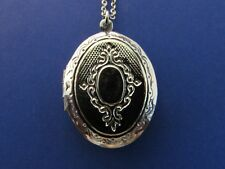 Gorgeous Vintage Silver Victorian Locket with chain