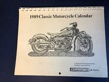 Paul Jamiol Classic Motorcycle Pencil Drawings 1989 Calendar Vintage Bikes Vgc !