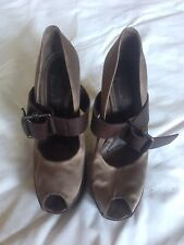 sandali MARNI in raso - colore tortora - usati - taglia 40
