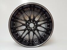 "19"" 5/114.3 BLACK & BLACK LIP WHEELS STAGGERED MESH DESIGN FITS:NISSAN,LEXUS"