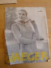 Vintage Tejer patrón, años 50, Suéter, Cuello de Split, cuello, bolsillos de parche 4ply