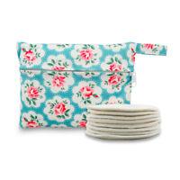 8 ALVA Nursing Breast Pads For Breastfeeding Washable Reusable Bamboo+ 1Tiny bag