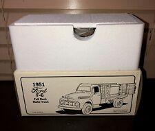 NIB 1951 Ford F-6 Full Rack Stake Truck Harley Davidson Custom Chrome 1rst Gear