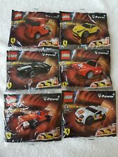 Lego Ferrari Shell V-Power collection x6 30190 30191 30192 30193 30194 30195 NEW