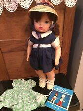 """Doll 16"""" Terri Lee with extra dress and booklet 1950s"""