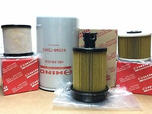 NEW Genuine OEM Hino Maintenance Filter set 155 195  2012-2017